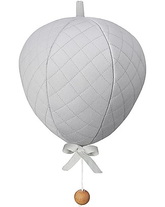 Camcam Copenhagen Balloon Music Mobile, Grey - Plays Summertime Mobiles