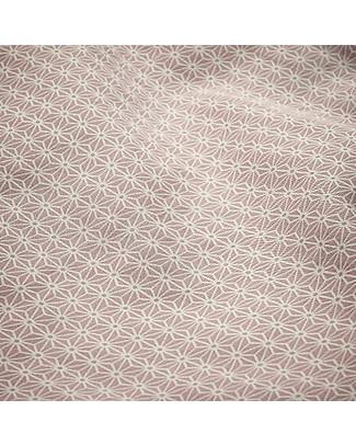 Camcam Copenhagen Bedding, Duvet Cover + Pillow Case - Sashiko Blush - 100% Organic Cotton Blankets