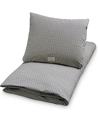 Camcam Copenhagen Junior bedding, Duvet Cover + Pillow Case Blue Wave - 100% Organic Cotton Duvet Sets
