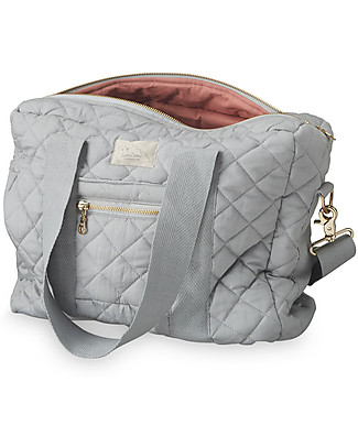 Camcam Copenhagen Nursing Bag, Grey - Water Repellent Organic Cotton Diaper Changing Bags & Accessories