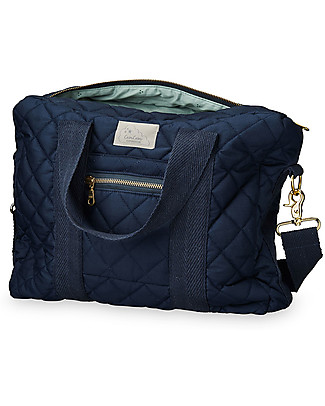 Camcam Copenhagen Nursing Bag, Navy - Water Repellent Organic Cotton Diaper Changing Bags & Accessories
