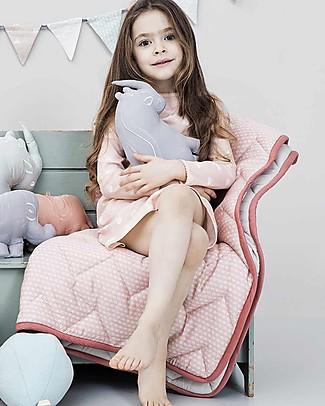 Camcam Copenhagen Quilted Baby Blanket, Sashiko Blush - 100x100 cm, Organic Cotton Blankets