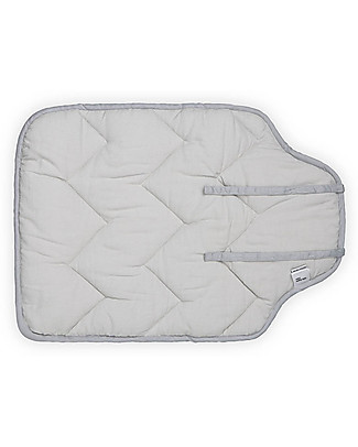 Camcam Copenhagen Quilted Changing Mat, 45 x 65 cm, Grey Wave - Organic Cotton Travel Changing Mats