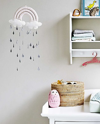 Camcam Copenhagen Rainbow Mobile, Rose - Hand made from felt and cotton! Mobiles