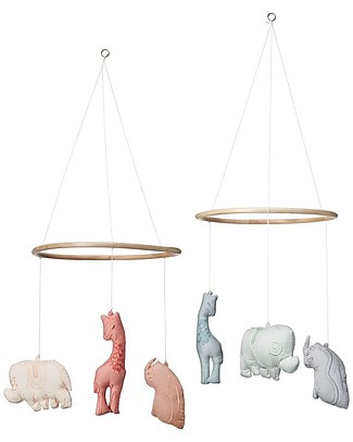 Camcam Copenhagen Savannah Mobile, Mint – Hand made, comes in a gift box! Mobiles