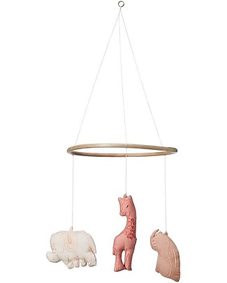Camcam Copenhagen Savannah Mobile, Pink – Hand made, comes in a gift box! Mobiles