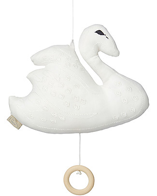 Camcam Copenhagen Swan Music Mobile, Off White  Mobiles