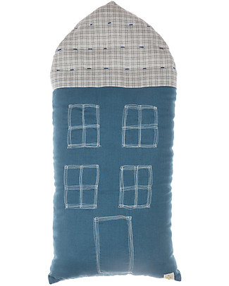 Camomile London Tall House Cushion, Indigo, 29 x 57.5 cm – The perfect gift idea! Cushions