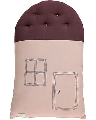 Camomile London Tall House Cushion, Pink/Wine, 24 x 38 cm – The perfect gift idea! Cushions