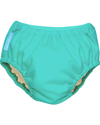 Charlie Banana 2-in-1 Swim Diaper & Training Pant, Fluorescent Turquoise - Washable, perfect at the beach or swimming pool! Swim Diaper
