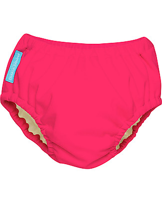 Charlie Banana 2-in-1 Swim Diaper & Training Pant, Hot Pink - Washable, perfect at the beach or swimming pool! Swim Diaper