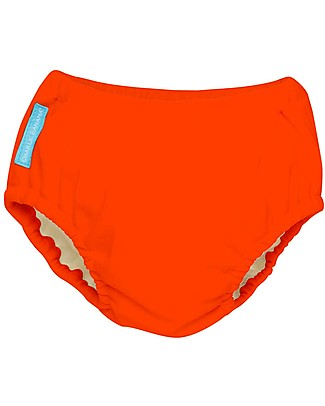 Charlie Banana 2-in-1 Swim Diaper & Training Pant, Orange - Washable, perfect at the beach or swimming pool! Swim Diaper