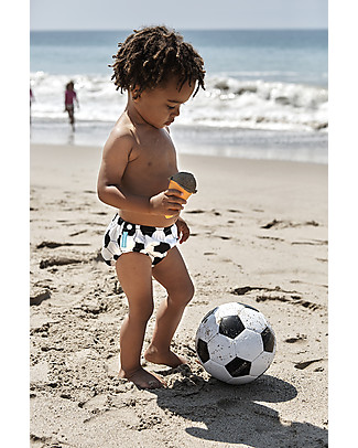 Charlie Banana 2-in-1 Swim Diaper & Training Pant, Soccer – Washable, perfect at the beach or swimming pool! Swim Diaper