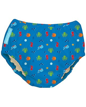 Charlie Banana 2-in-1 Swim Diaper & Training Pant, The Sea - Washable, perfect at the beach or swimming pool! Swim Diaper