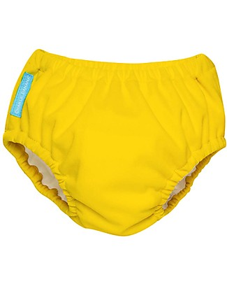 Charlie Banana 2-in-1 Swim Diaper & Training Pant, Yellow - Washable, perfect at the beach or swimming pool! Swim Diaper