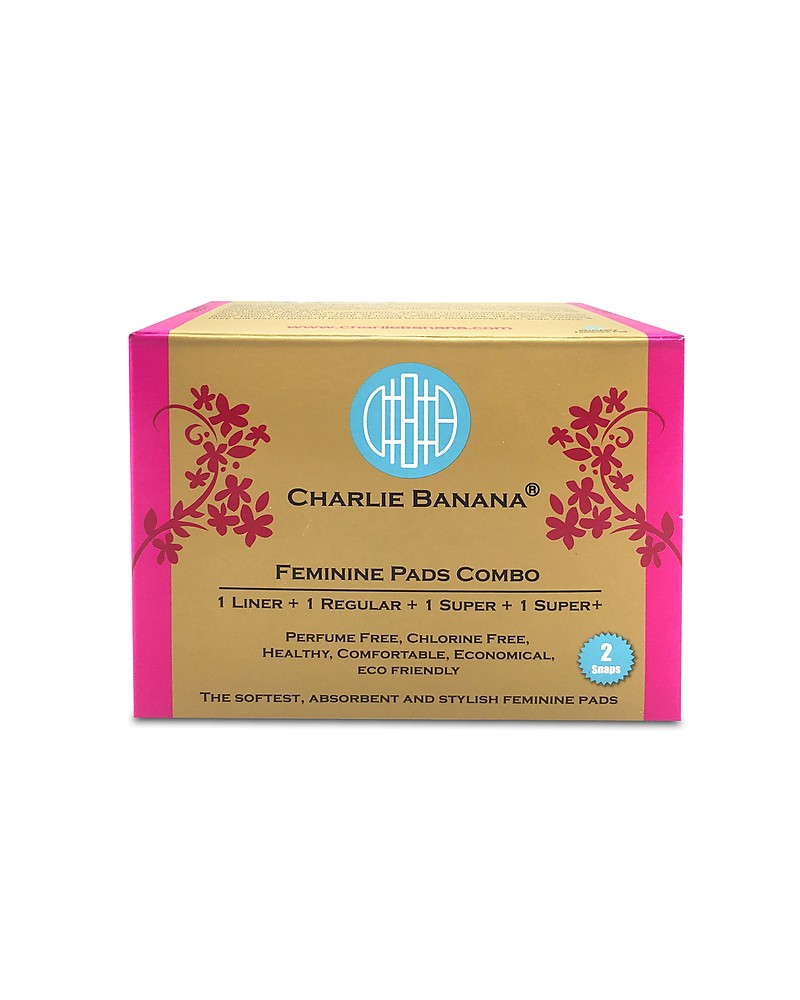 Charlie Banana Pack of 4 Washable Feminine Liners and Pads