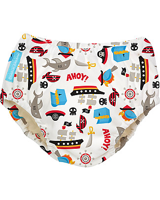 Charlie Banana Swim Diaper, Pirates - In Tencel, Eco-friendly and Biodegradable! Swim Diaper