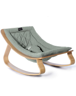 Charlie Crane Baby Rocker LEVO - Beech, Aruba Blue - Timeless and Eco-Friendly Design! Bouncers