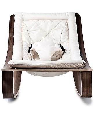 Charlie Crane Baby Rocker LEVO - Gente White -Timeless and Eco-Friendly Design! Bouncers