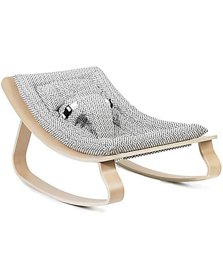 Charlie Crane Baby Rocker LEVO in Beech - Diamonds -Timeless and Eco-Friendly Design! Bouncers
