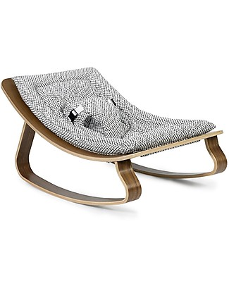 Charlie Crane Baby Rocker LEVO - Walnut, Diamonds -Timeless and Eco-Friendly Design! Bouncers