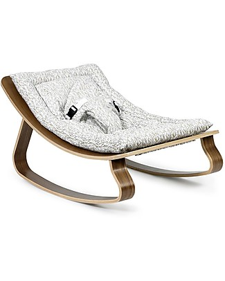 Charlie Crane Baby Rocker LEVO - Walnut, Rabbit -Timeless and Eco-Friendly Design! Bouncers