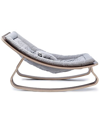 Charlie Crane Baby Rocker LEVO - Walnut, Sweet Grey -Timeless and Eco-Friendly Design! Bouncers