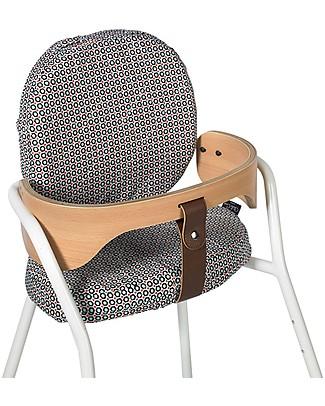 Charlie Crane Cushions for TIBU High Chair, Petit Pan Mikko Blanc - 2-Cushions Set, 100% cotton! Chairs