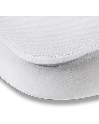 Charlie Crane Mattress Protective Cover 70 x 120 cm for MUKA Evolutive Bed, White - Cotton jersey Mattresses