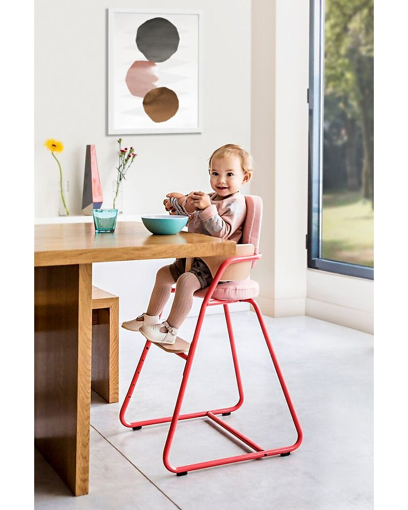 Charlie Crane Tibu High Chair, Bright Red U2013 From 6 Months To 8 Years Old