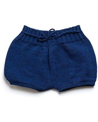 Cherry Papaya Knitted Shorts with Drawstrings,Blue Shorts