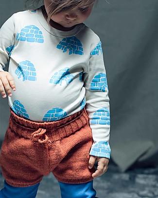 Cherry Papaya Knitted Shorts with Drawstrings, Red Shorts