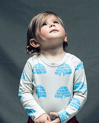 Cherry Papaya Long Sleeved Bodysuit, Igloo - 100% organic cotton Long Sleeves Bodies