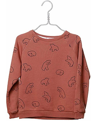 Cherry Papaya Long Sleeved Raglan Sweatshirt, Bear - 100% Organic cotton Sweatshirts