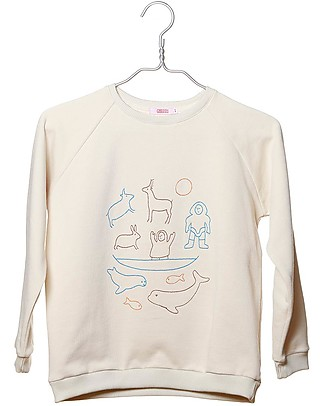 Cherry Papaya Long Sleeved Raglan Sweatshirt, Men and Animals - 100% Organic cotton Sweatshirts