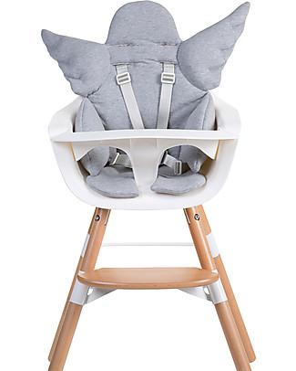 Childhome Angel Universal Seat Cushion, Grey – 100% cotton jersey Cushions