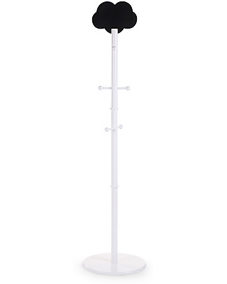 Childhome Cloud Coatstand, White – With cloud shaped chalkboard! Hangers & Hooks