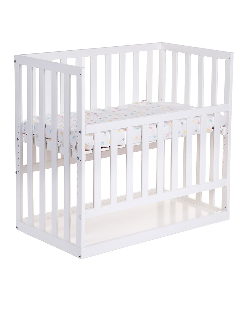 Baby bed next to bed - Childhome Co Sleeping Bedside Crib With Wheels 90x50 Cm Beech Wood White