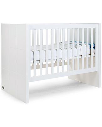 Childhome Evolutive Quadro Cot – Includes transformation kit to turn the 60x120 cm cot into a 90x200 cm single bed! Cots & Cotbeds