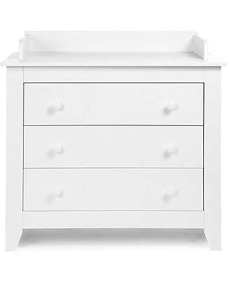 Childhome Flemish 3-drawers Dresser/Changing Station, White Dressers