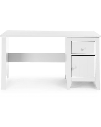 Childhome Flemish Desk, White – With a drawer and a cabinet! Tables And Chairs