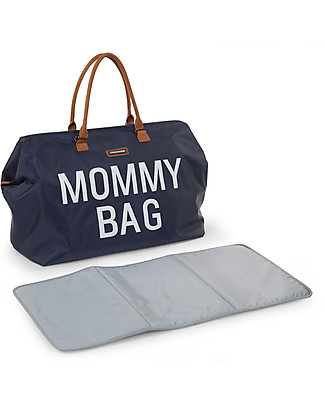 Childhome Mommy Bag, Diaper Bag 55 x 30 x 30 cm, Navy - Includes foldable changing mat! Diaper Changing Bags & Accessories