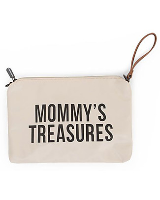 Childhome Mommy Treasures, Clutch Bag 33 x 23 x 3 cm, White and Black Diaper Changing Bags & Accessories