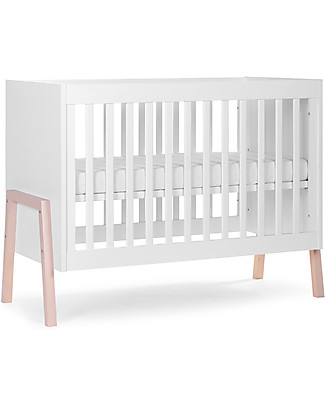 Childhome Nordic Acacia Cot, White, 60 x 120 cm Cots & Cotbeds