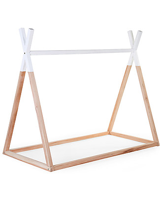 Childhome Tipi Cot Bed Frame, Beech Wood - 140 x 70 cm Montessori Beds