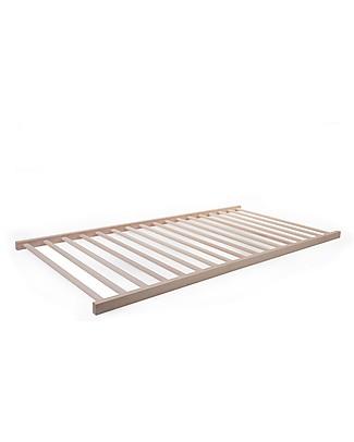 Childhome Tipi Mattress Base Frame, Beech Wood - 200 x 90 cm Single Bed