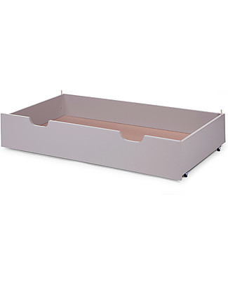 Childhome Trundle for Beech Wood Cot 60 x 120 cm, Stone Grey Cots & Cotbeds