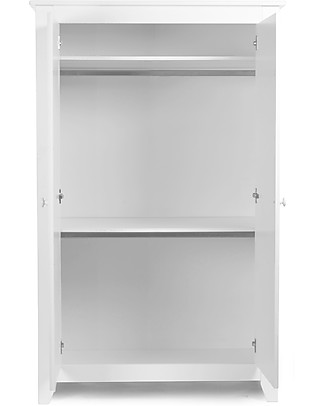 Childhome Two Doors Flemish Wardrobe, White  Dressers