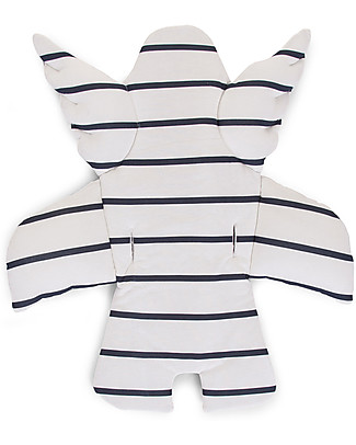 Childwood Angel Universal Seat Cushion, Marin, Blue+White Stripes - 100% cotton jersey High Chairs