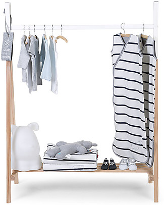 Childwood Beech Wood Children's Clothes Rack, 50 x 105 cm Hangers & Hooks